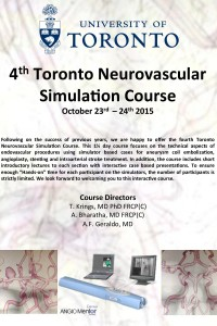4th Annual Toronto Neurovascular Simulation Course